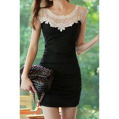 Buttock Short Sleeve Round Collar short Dress