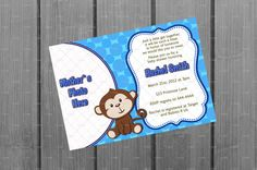 Monkey Baby Shower Invitation Card with Photo by NorthernDesigns, $10.00