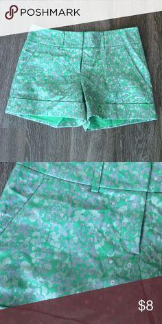 New York & Co mint green shimmer shorts Like new! Very slimming! New York & Company Shorts