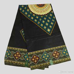 6 Yards African Wax Print Fabric, Nigerian Fabric,Ankara Wax Block Fabrics for…