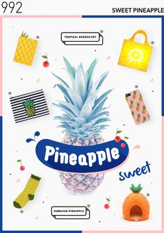 텐바이텐 10X10 : Day& 992 > Sweet pineapple Web Design, Email Design, Page Design, Print Layout, Web Layout, Event Banner, Magazine Layout Design, Promotional Design, Postcard Design