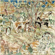Ian Fairweather. Tethered Horses.
