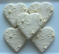 Heart Cookies~                                by DolceDesserts, $38.00, white filigree