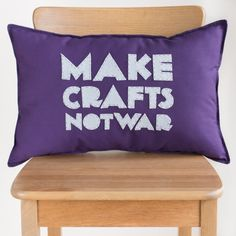 Make Crafts Not War Pillow Tutorial submitted to InspirationDIY.com