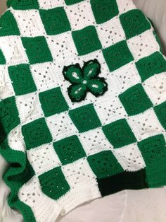 Lucky Shamrock Baby Blanket by RedBarnProducts89 on Etsy, $40.00