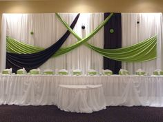 pipe drape head table we can do this using a stage tables and pipe and drape yes we can pinterest