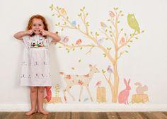 Wall Decals Woodland pegatinas de tela por LoveMaeStore en Etsy