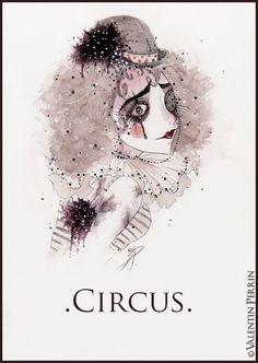 Image result for dark circus drawings