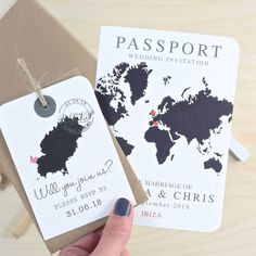 Wedding Invitation Wording: Examples, Advice and Templates - Abroad Wedding Invites, Make Your Own Wedding Invitations, Traditional Wedding Invitations, Wedding Party Invites, Country Wedding Invitations, Wedding Abroad, Wedding Invitation Wording Examples, Map Invitation, Passport Wedding Invitations