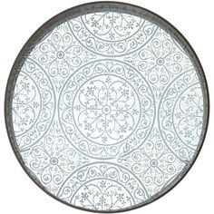 NOTRE MONDE Mirrored Moroccan Tray ($319) ❤ liked on Polyvore featuring home, kitchen & dining, serveware, wht drft and painted tray