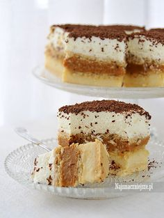 Toffi Polish Desserts, Polish Recipes, No Bake Desserts, Sweets Cake, Cupcake Cakes, Cupcakes, Yummy Treats, Delicious Desserts, Sweet Treats