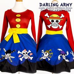 King of the Pirates Printed Cosplay Dress