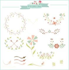 Digital Arrow clip art wedding invitations by VectorGraphicsCorner