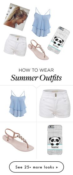 """Summer outfit"" by daydreamxox on Polyvore featuring LE3NO, AX Paris and IPANEMA"