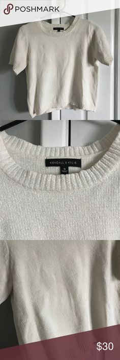 ⭐️MAKE OFFERS! Kendall and Kylie chenille top Never worn. Super cute chenille material (SOFT) top by Kendall and Kylie. True to size. Always open to reasonable offers! Kendall & Kylie Tops