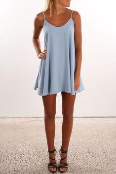 Swayze Dress Blue | Womens | Jean Jail Clothing, Shoes & Jewelry - Women - women's jeans - http://amzn.to/2jzIjoE