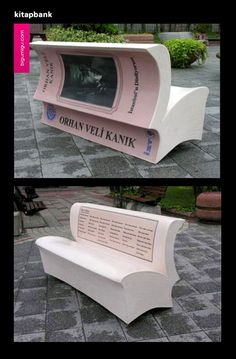 The city of Istanbul is promoting reading with book benches. Benches that look like an open book have been placed around the city, each one carries poems from 18 famous Turkish poets