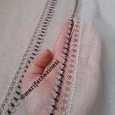 Çok Dikkat Çeken 36 Tığ İşi Boncuklu Oya Modelleri Hand Embroidery Patterns, Baby Knitting Patterns, Sewing Patterns, Crochet Patterns, Crochet Lace Edging, Free Crochet, Fancy Kurti, Fashion Sewing, Vest