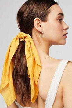 Lana Silk Scarf Ponytail Holder Hair Pinterest Frisur Makeup