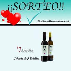 Sorteo San Valentín: 2 Estuches 2 Botellas Vino D.O. Valdepeñas