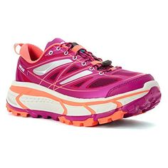 Hoka One One Womens Mafate Speed Wild AsterNeon Coral 85 M -- To view further for this item, visit the image link. (This is an affiliate link) Hoka One One, Trail Running Shoes, Ss16, Running Women, Footwear, Sneakers, Image Link, Stuff To Buy, Advertising