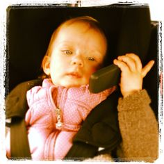 Tosia on the phone