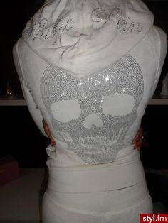 skull rhinestone hoodie