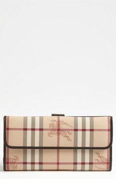 Burberry Haymarket Wallet Nordstrom