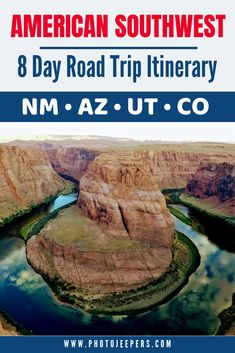 There are so many things to see, do and photograph in the American Southwest. This Southwest Road Trip Itinerary takes you through New Mexico, Arizona, Utah and Colorado. Visit the US National Parks, US State Parks and other landmarks in the Southwes Le Colorado, Road Trip To Colorado, Arizona Road Trip, Arizona Travel, Road Trip Packing, Us Road Trip, Road Trip Hacks, New Mexico Road Trip, Mexico Vacation