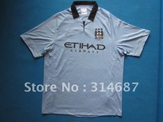 New Arrival 12/13 Best Thailand quality Manchester city home babay blue soccer jersey,Soccer tops,Mix order any size and teams on AliExpress.com. $95.00