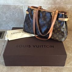 Louis Vuitton Batignolles Horizontal Authentic Louis Vuitton Batignolles Horizontal. Some wear on the corners and the buckles. Box and dust bag included. NO TRADES I only sell through Poshmark. Louis Vuitton Bags