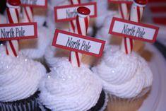 "- North Pole Cupcakes for a ""Polar Express"" party"