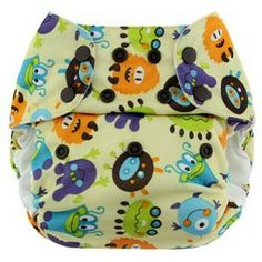 Blueberry One Size Bamboo Pocket, fantasia Monsters! Pannolino lavabile Pocket a taglia unica #pannolinilavabili