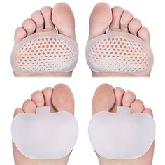 Amazon.com: Dr. Frederick's Original Metatarsal Pads - 2 Pieces - Gel Pad Ball of Foot Cushions - Rapid Foot Pain Relief: Health & Personal Care