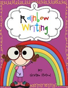 This is a rainbow writing activity. Students write 10 of their spelling words or sight words two times each. Then they trace their words in 3 diffe...