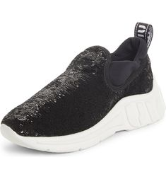 Free shipping and returns on Miu Miu Sequin Slip-On Sneaker (Women) at Nordstrom.com. <p>A thick rubber sole molded with large logos cradles the foot while scales of sequins atop bring cheeky glamour to a sporty pull-on sneaker with a stretchy cuff.</p> Preppy Trends, Miu Miu, Bring It On, Sequins, Nordstrom, Slip On, Sporty, Glamour, Free Shipping