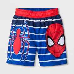 Toddler Boys' Marvel Spider-Man Swim Trunks - Blue 5T