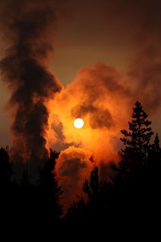 Fiery Sunset, Norris Geyser Basin, Yellowstone National Park