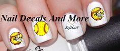 50+ pc of softball water slide nail decals County living girls JH 158 on Etsy, $4.00