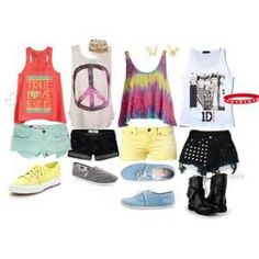 cute summer outfits for teens (I would never wear the last one but the others are definitely okay)
