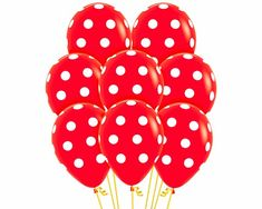 Productos Detalle Polka Dots Rojo Infinity | Sempertex Minnie Mouse, Celebrations, Globes, Red, Products