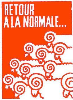 T-SHIRT H sérigraphié PRESSE NE PAS AVALER affiche MAI 68 poster may 1968