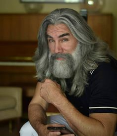 Older Mens Long Hairstyles, Older Men Haircuts, Guy Haircuts Long, Goatee Styles, Hair And Beard Styles, Long Hair Styles, Grey Beards, Long Beards, Old Man Haircut