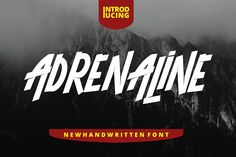 "Give your designs an authentic brush handcrafted feel. ""ADRENALINE Font"" is perfectly suited to signature, stationery, logo, typography quotes, magazine or book Alphabet Writing, Kids Writing, Cursive Fonts, Handwriting Fonts, Improve Handwriting, Website Header, Script Logo, Tattoo Script, Character Map"