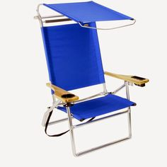 lightweight beach chair with canopy