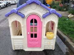Pink and Purple Step 2 Sweetheart Cottage Playhouse #LittleTikes