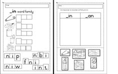 ****FREE*** cvc _in Word Family worksheets Word Family Activities, Family Worksheet, Word Families, Teaching Materials, Worksheets, Language, Education, Words, Free