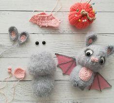 Amigurumi crochet pattern crocheted bat Crochet Halloween | Etsy