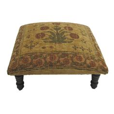 Corona Decor Hand-woven Tan/ Red Floral Footstool | Overstock.com Shopping - Great Deals on Ottomans  $147.99