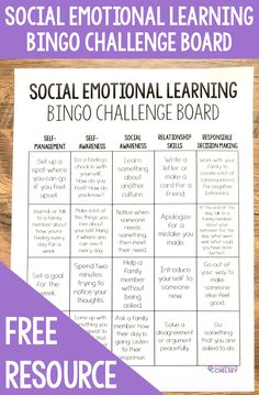 Help your students practice social emotional learning at home with this free activities challenge board. Social Emotional Activities, Counseling Activities, Learning Activities, Free Activities, Summer School Activities, Educational Activities, Social Skills Lessons, Teaching Social Skills, Coping Skills